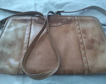 b42a797cda Beige leather purse/ vintage 80 s bag/unique elegant purse/romantic purse/  shoulder bag/Handmade purse