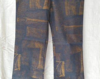 c34dede4 VINTAGE blue cold jeans/ Pants Size 12/cotton pants/Aura/High Rise/made in  england