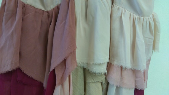 endladesign upcycled dresstattered summer dressOOAKbridesmaid Dresssize L44 BohohandmadeHippieCinderella Gipsy,shabby chic