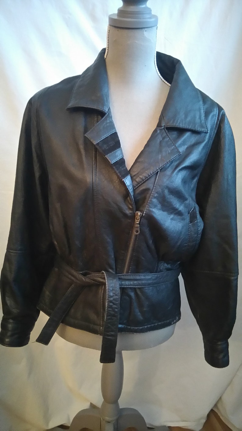 7745cba23 Sale 50% off/Vintage leather jacket/OOAK/ Size 12,vintage 80 s,cottage  chic,motorcycle jacket/country chic