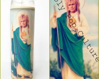 Saint Jareth Prayer Candle   Saint Jareth Candle   Goblin King Candle   Labyrinth candle   gag gift idea