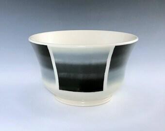Ceramic Soup Bowl, Ceramic Cereal Bowl, Black White Bowl, Ombre Cereal Bowl, Porcelain Bowl, Ceramic Candy Dish, Pottery Bowl, Salsa Bowl