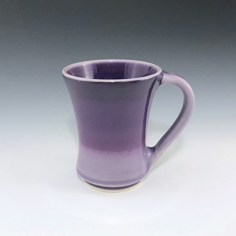 Purple Ombré Ceramic Mug Ceramic Coffee Mug Porcelain Coffee image 0