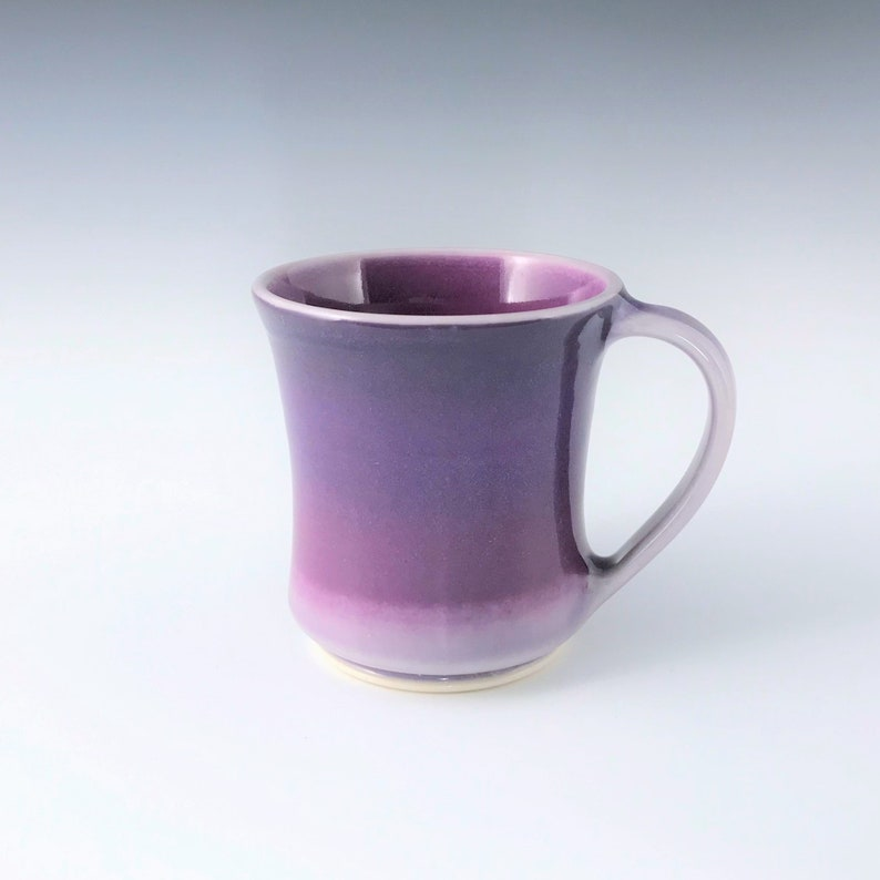 Small Purple and Pink Ceramic Mug Porcelain Coffee Mug Wheel image 0