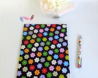 Carnet de notes - Couverture fleurie - Rose - Bleue - Multicolore - Papier Anglais - Carnet - Motif fleurs - Petites fleurs - Cahier- Ecrire