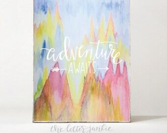 Adventure Awaits Watercolor Art Print