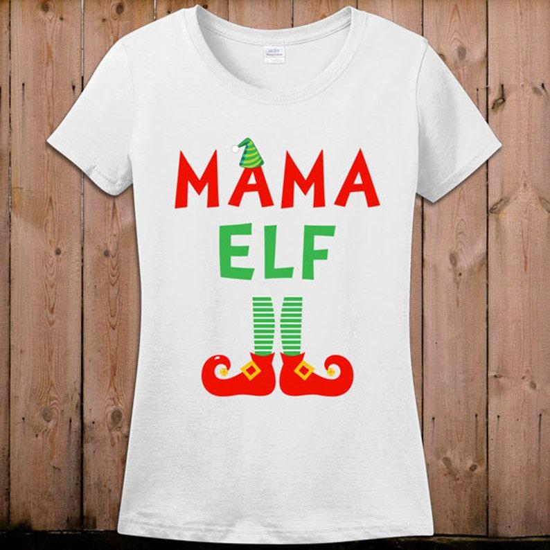 897be9536 Elf T Shirt Christmas shirt Mama Elf movie Tshirt Santa Claus   Etsy