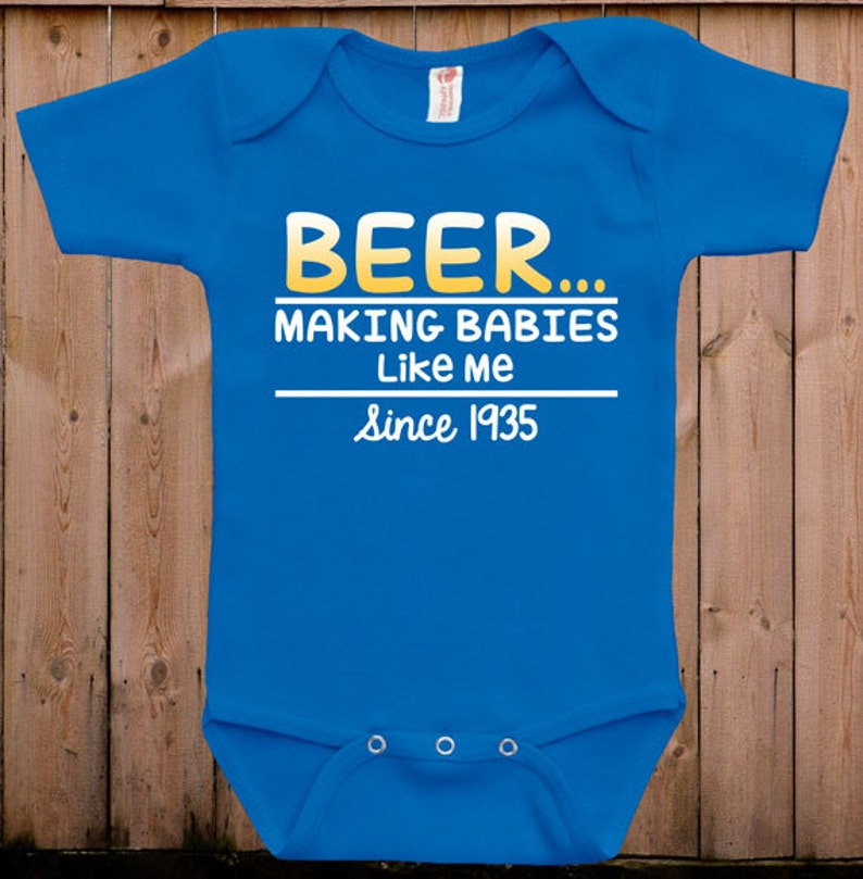 e55270bb1689 Funny baby clothes newborn baby clothes beer gift for dad gift