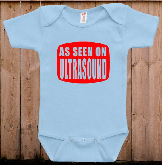 Cute baby clothes As seen on ultrasound funny daddy mommy baby gift gift ideas for mom cute baby bodysuit one piece romper