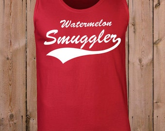 Pregnancy clothes maternity tank top funny pregnant gift ideas for mom wife gift watermelon smuggler ladies men youth women Tank top