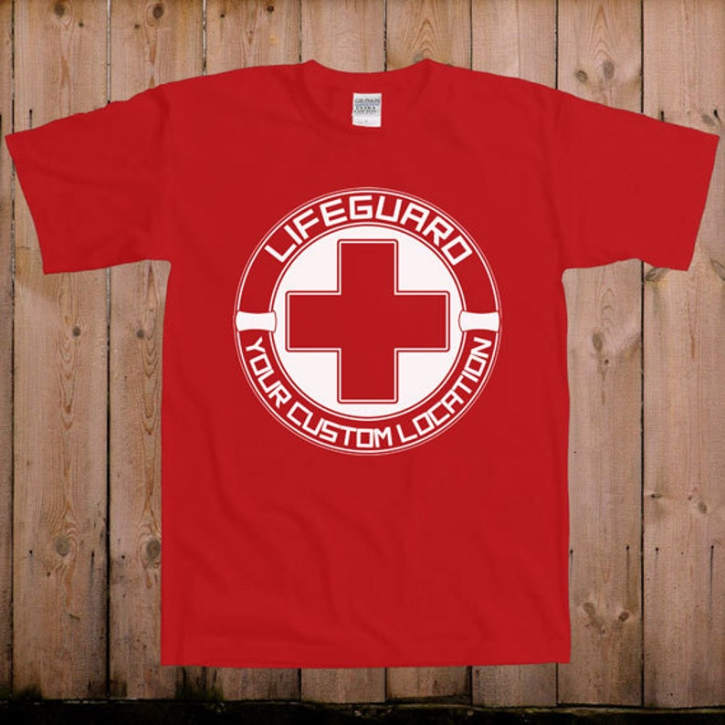 00dcc38e866a Lifeguard shirt beach body life preserver custom location i.e.