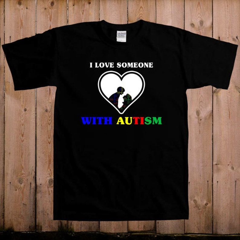 ba887e31 I love someone with autism t shirt Autism awareness autism | Etsy