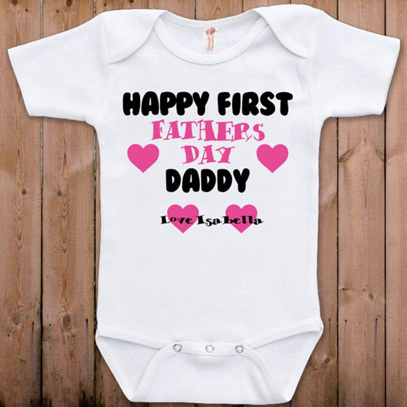 3f393a6db Fathers Day gift new dad Happy first Fathers Day Funny baby