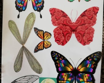 Acetate fairy/butterfly wing collage for all your crafting projects