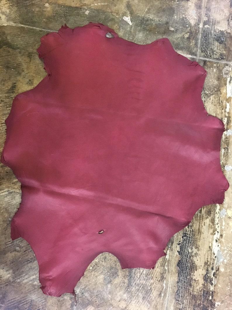 6 Sq.Ft. Italian veg tanned lambskin naked leather skin hide lamb burgundy