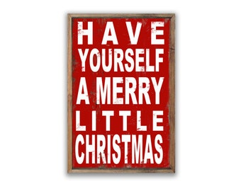 have yourself a merry little christmas wooden sign 1325x1825x2 christmas decor christmas signs christmas gifts typography holiday signs - Wooden Christmas Signs