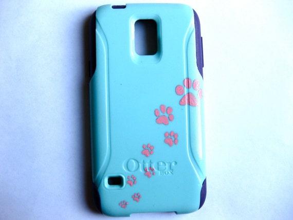 quite nice 53460 5de30 Galaxy S5 Otterbox Case, Otterbox Samsung Galaxy S5 Case Custom Paw print  Glitter S5 Case
