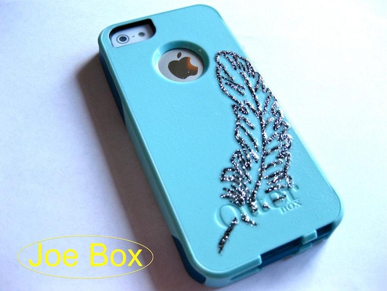 3aa9522ecbc Iphone 5 Otterbox caseglitter otterbox case baby blue Baby | Etsy