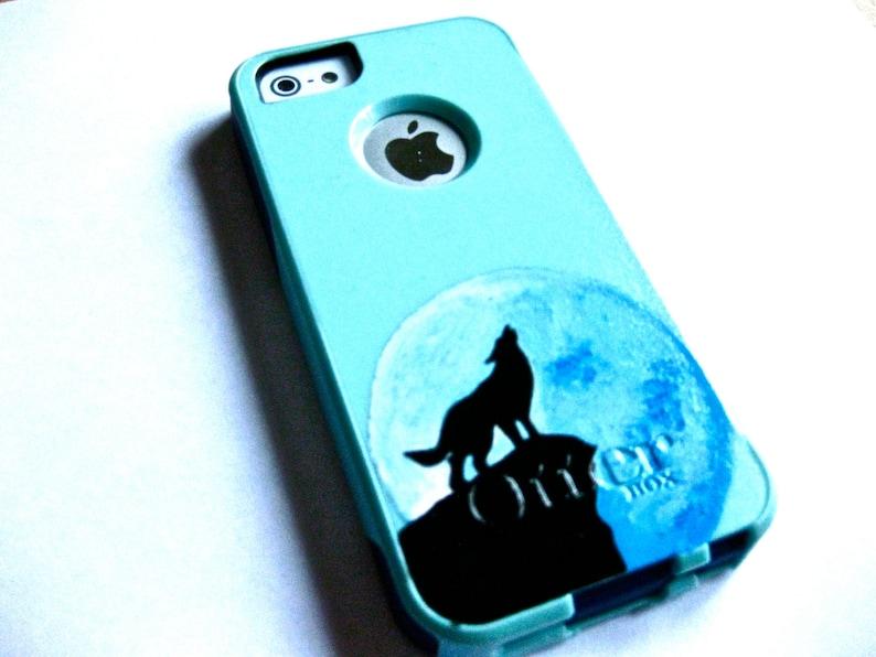 e334c0e30ea Iphone 5 Otterbox casecute glitter otterbox case Baby blue | Etsy