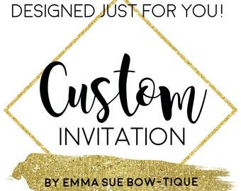 Invitation Design Etsy