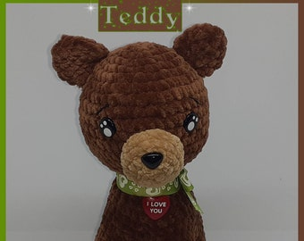 Teddy the Pooh, handmade crochet
