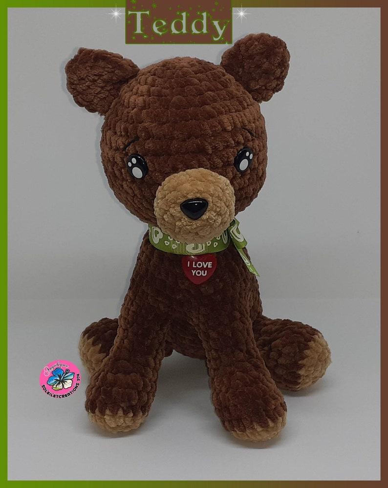 Teddy the Pooh handmade crochet image 0