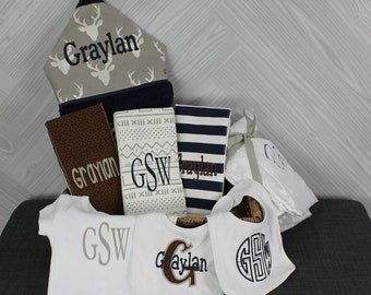The Fairy Godmother Baby Gift Basket, Custom for boy or girl, baby shower gift, new baby present, monogrammed baby gift basket