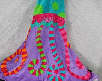 Jellyfish Hooded Beach Towel toddler kids FREE personalization