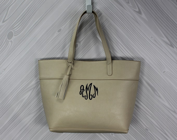 Women's Vegan Leather Tote Purse Bag FREE Personalization Perfect for any occasion