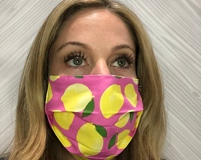 Face Mask, Reversible Face Covering, Washable Face Mask, Reusable Face Mask, 100% Cotton Face Mask, Double Layer Face Mask, Made in the USA