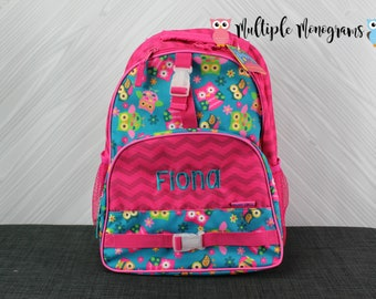 Owl Backpack toddler preschool kids FREE Personalization