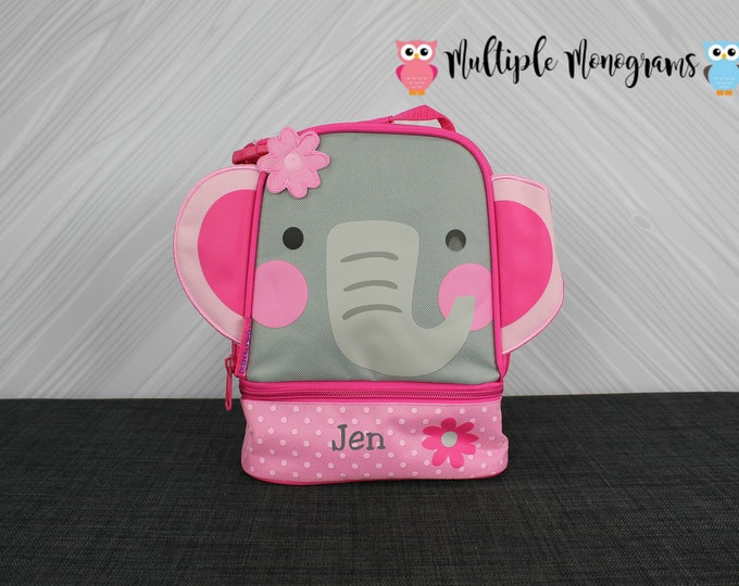 Elephant Lunchbox toddler preschool kids FREE personalization NEW design