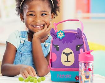 Llama Lunchbox toddler preschool kids FREE Embroidery personalization NEW design