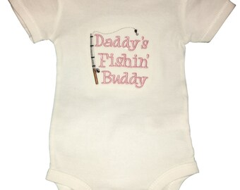 Daddy's Fishing Buddy Bodysuit for Baby Girl