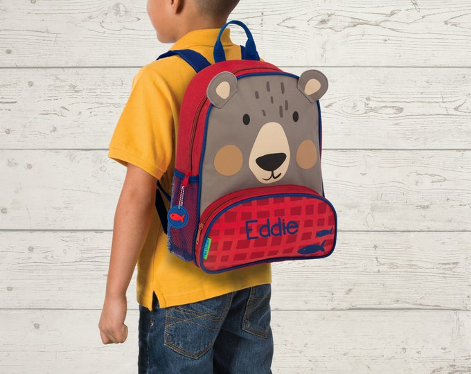 Bear NEW Style Sidekick Backpack toddler preschool kids FREE Embroidery Personalization NEW design