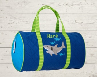 Shark Kids Duffel Bag FREE Embroidery Personalization