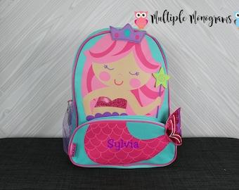 Mermaid NEW Style Sidekick Backpack toddler preschool kids FREE Personalization NEW design