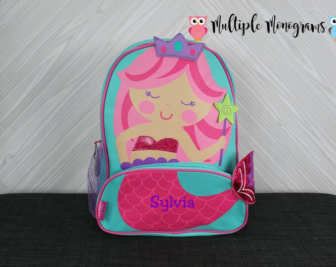 Mermaid NEW Style Sidekick Backpack toddler preschool kids FREE Personalization NEW design