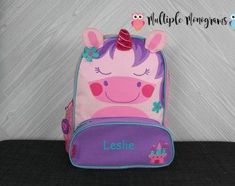 Unicorn NEW Style Sidekick Backpack toddler preschool kids FREE Personalization NEW design