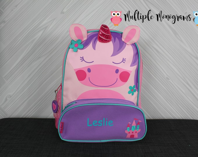 Unicorn NEW Style Sidekick Backpack toddler preschool kids FREE Personalization NEW design
