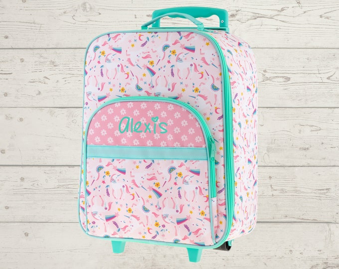 Unicorn All Over Print Rolling Luggage FREE Embroidery Personalization