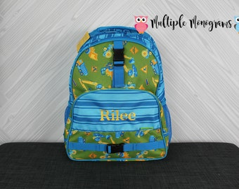 Construction Trucks Backpack toddler preschool kids FREE Personalization