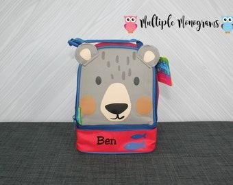 Bear Lunchbox toddler preschool kids FREE personalization NEW design
