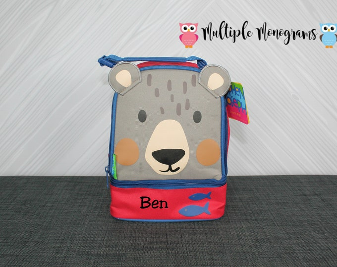 Bear Lunchbox toddler preschool kids FREE personalization NEW design