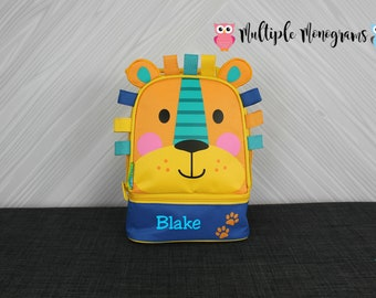 Lion Lunchbox toddler preschool kids FREE personalization NEW design