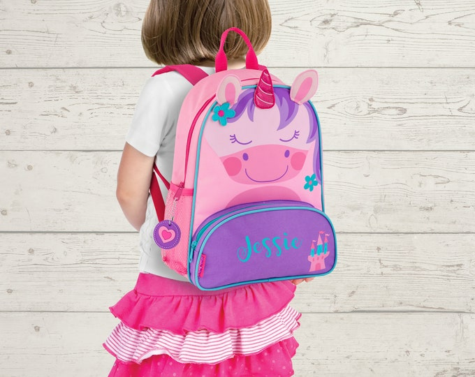 Unicorn NEW Style Sidekick Backpack toddler preschool kids FREE Embroidery Personalization NEW design