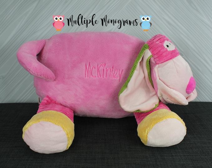 Personalized Elephant or Dog Stuffed Animal Pillow, New Baby Gift, Adoption Gift, Birthday Gift, Keepsake, Baptism Gift