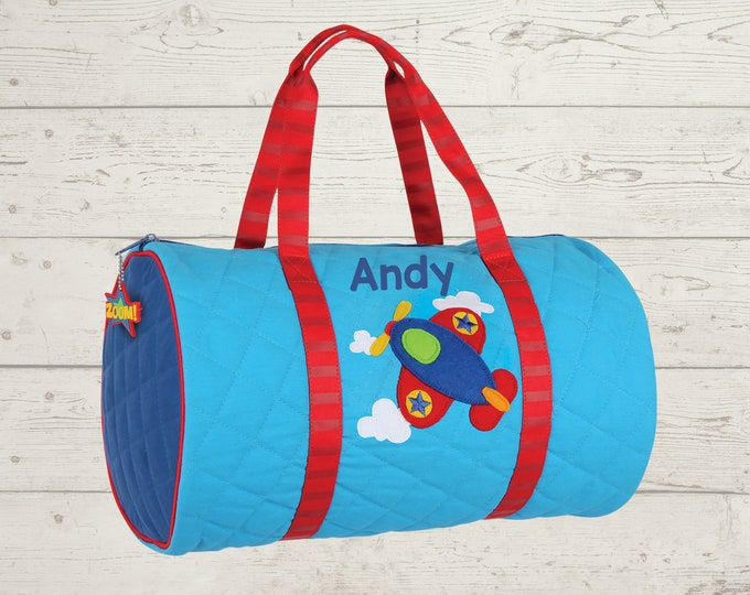 Airplane Kids Duffel Bag FREE Embroidery Personalization