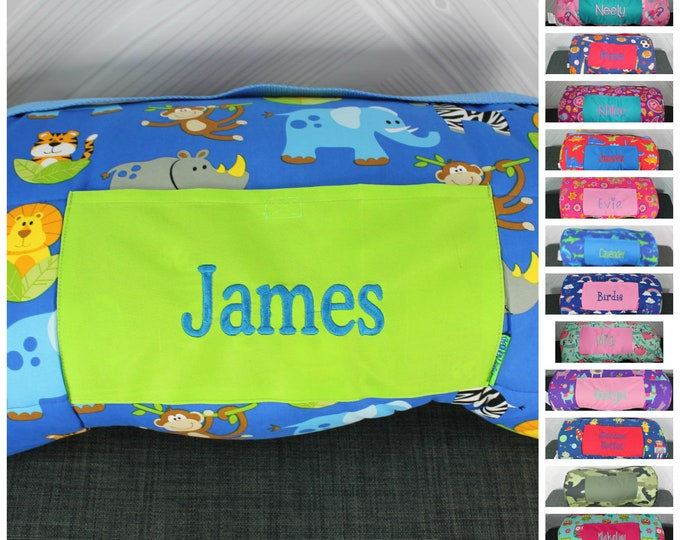 Stephen Joseph Zoo Animals Nap Mat with pillow and blanket attached FREE personalization