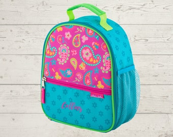 Paisley Lunchbox toddler preschool kids FREE Embroidery personalization